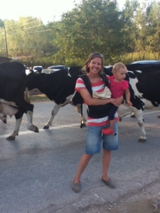 And, you never know when you'll see some cows out in the country. Ellie loved them.